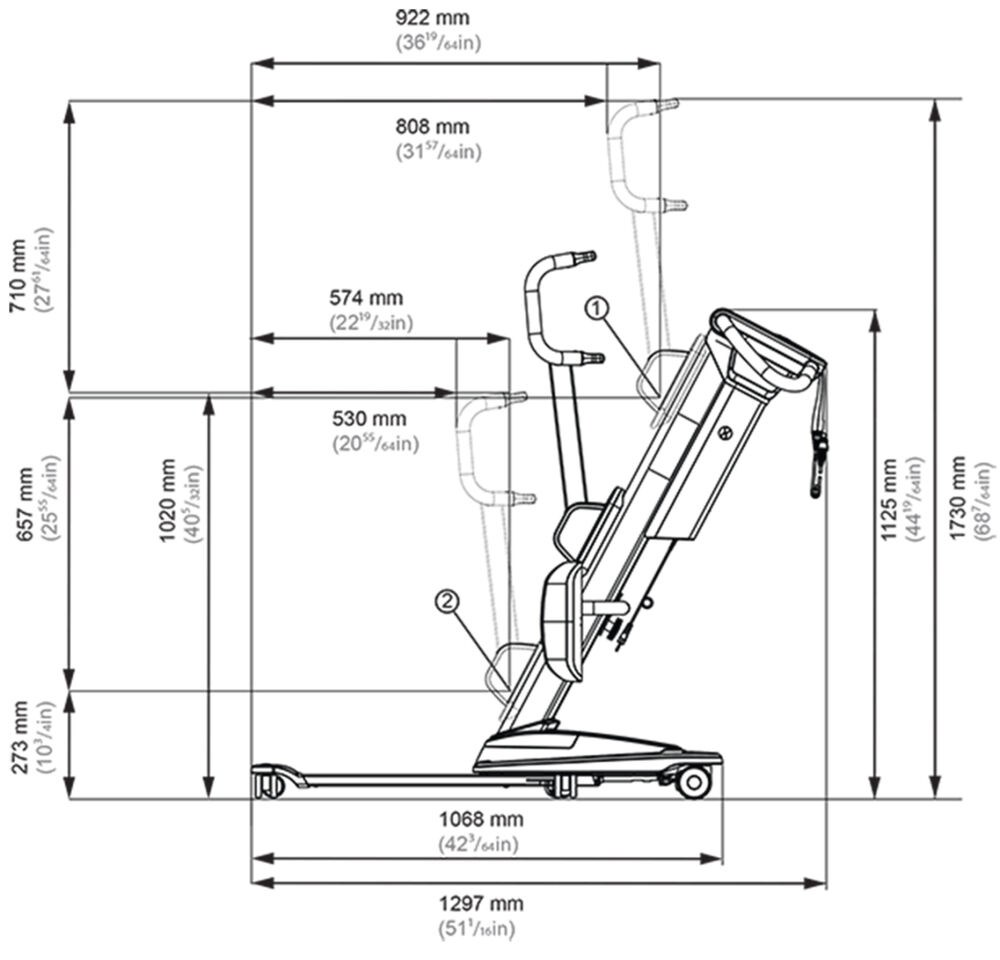 Molift QuickRaiser 205 Illustration