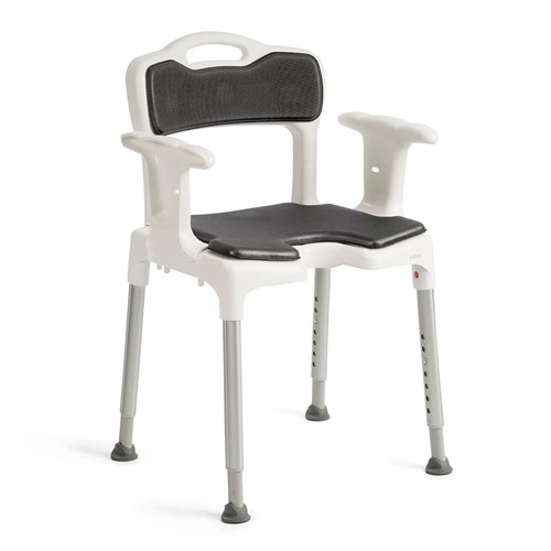 Etac Swift shower chair with seat and back support pad