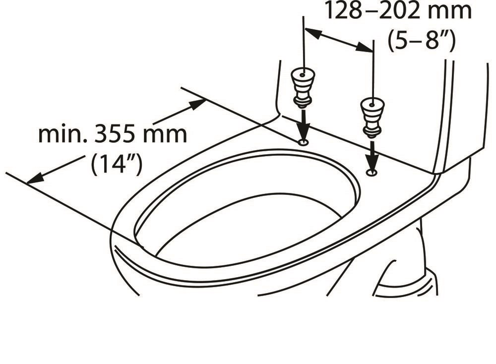 Etac Hi-Loo Fixed toilet seat raiser