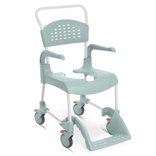 Etac Clean shower commode chair in lagoon green